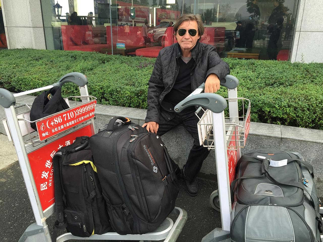 Jon Braeley at Shiyan City Airport, China. 2014