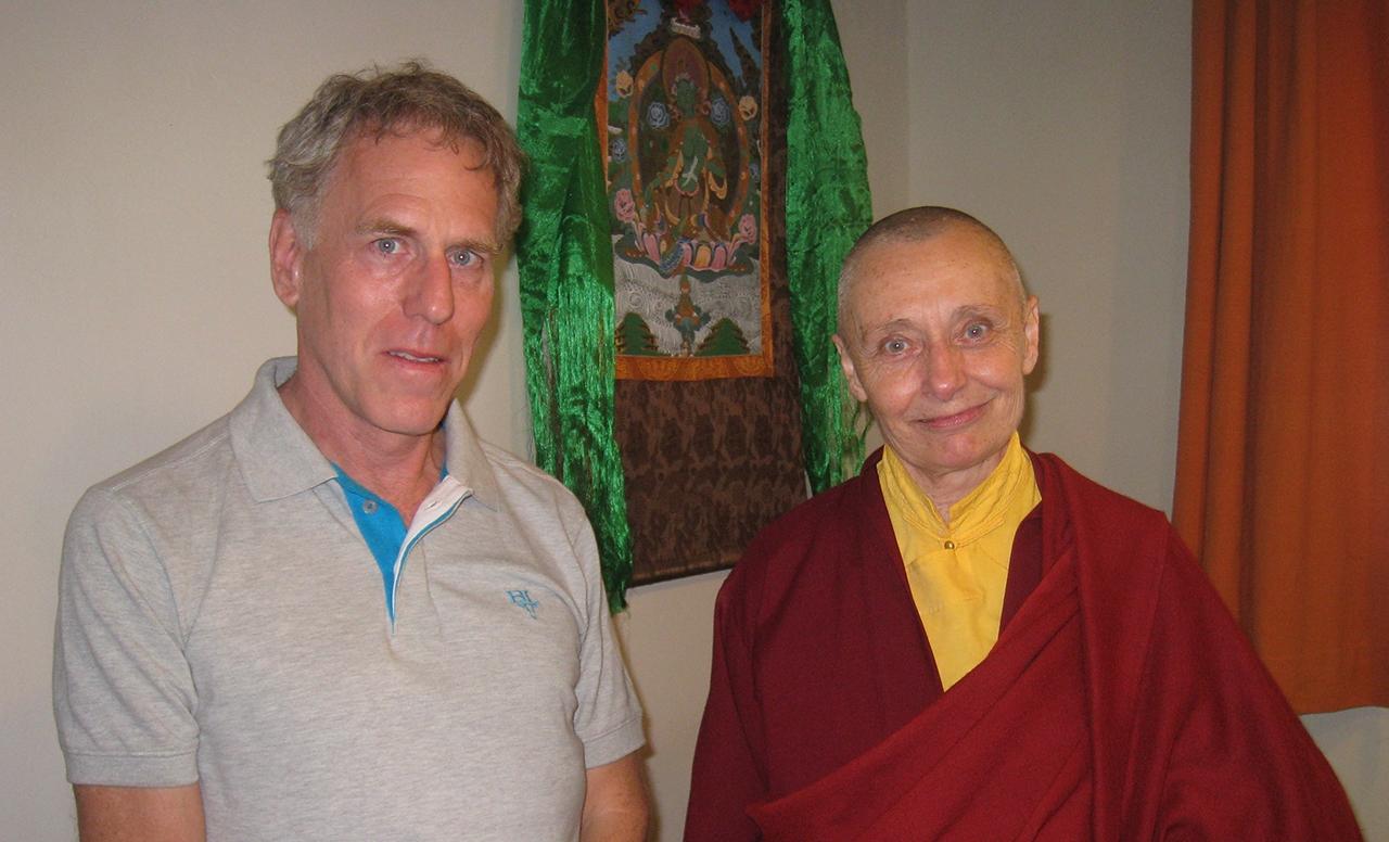 Chris Craven with Jetsunma Tenzin Palmo