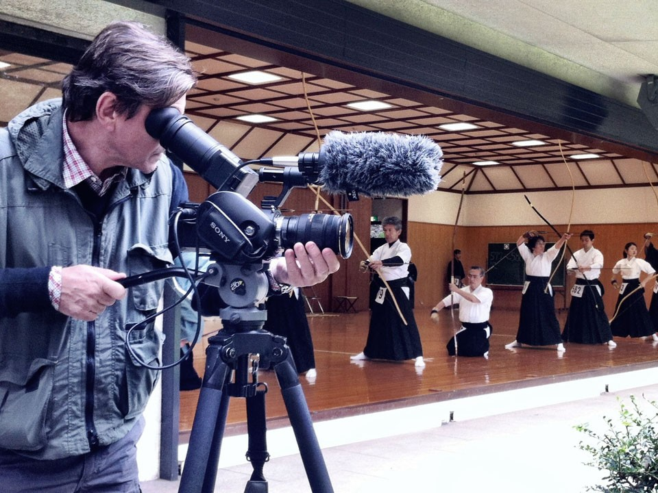 Jon Braeley Filming Japan Kydo Championships