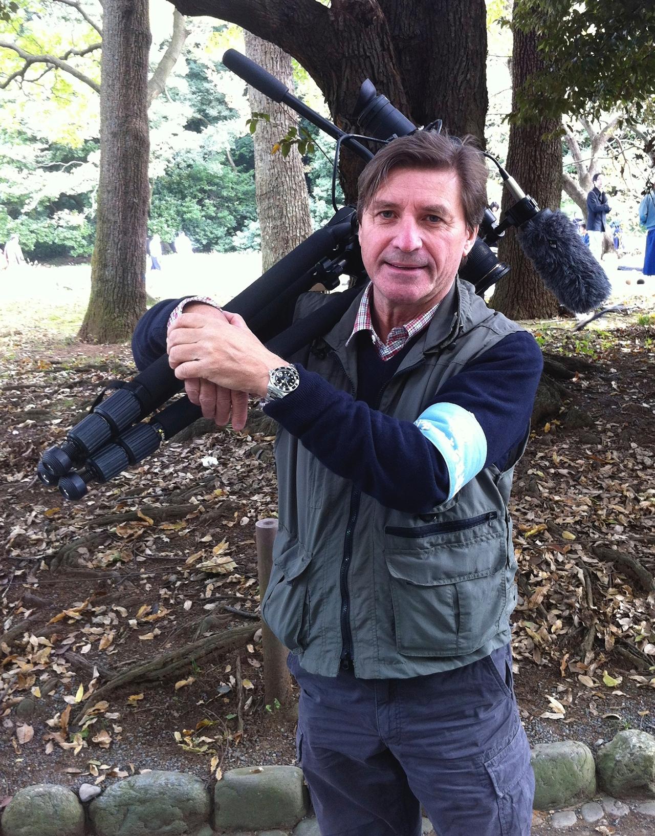 Director Jon Braeley in Meiji Park, Tokyo 2012