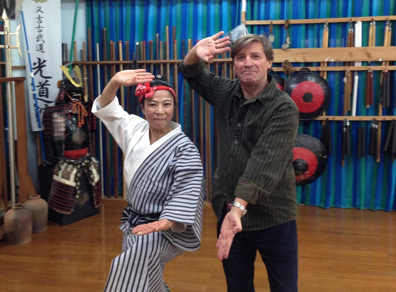 Taeko Ebata sensei, Kobudo- Kumiodori master, Okinawa