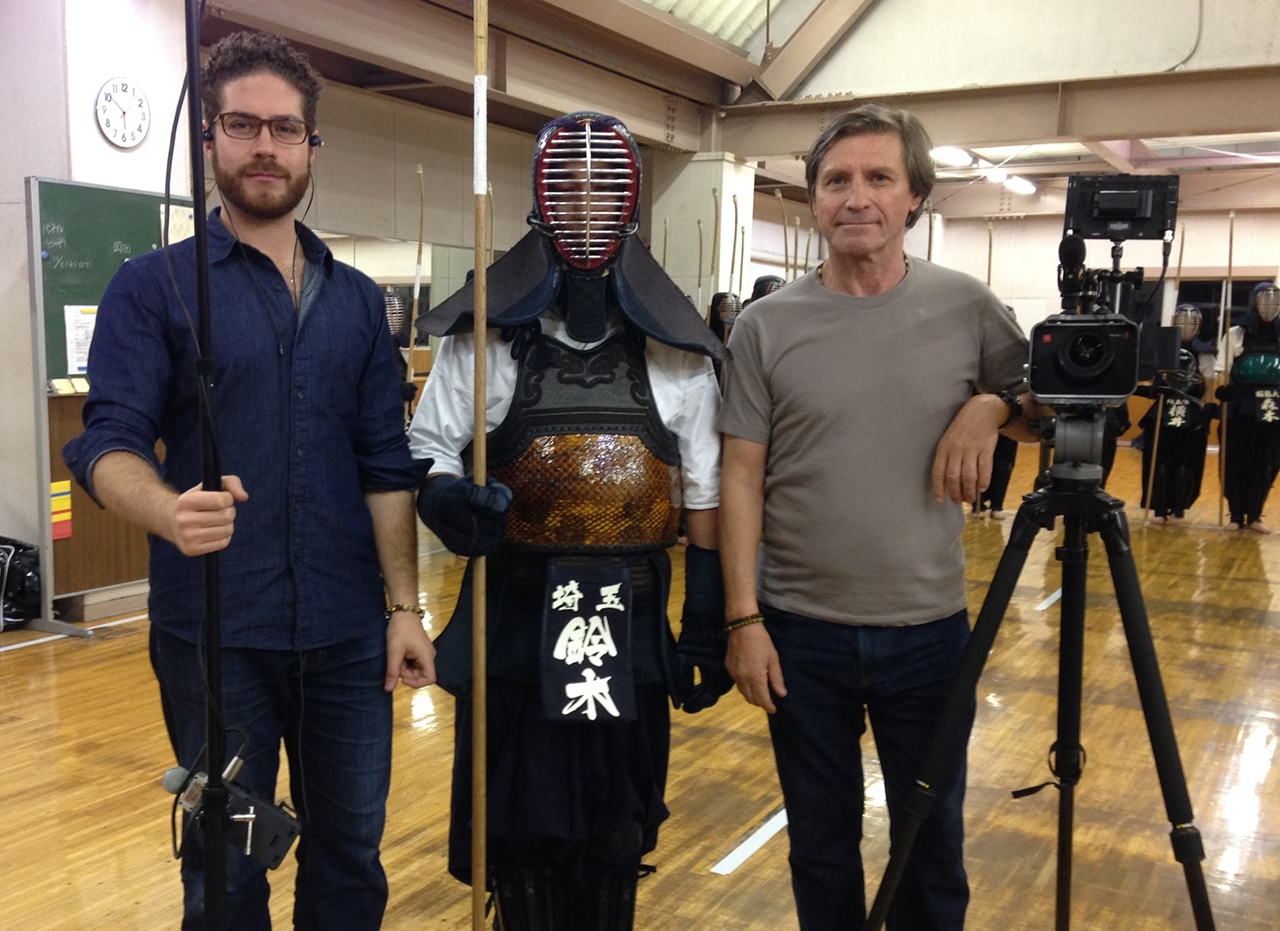 Juandiego Fonseca and Jon Braeley with Naginata master  Wataru Suzuki , 2013