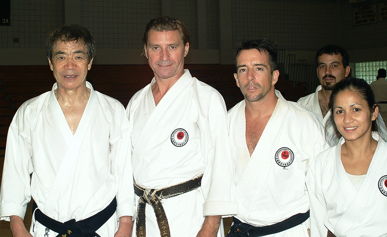 Gennie Asessor, Marc Ekasala, Jon Braeley with Kanazawa sensei, 2001